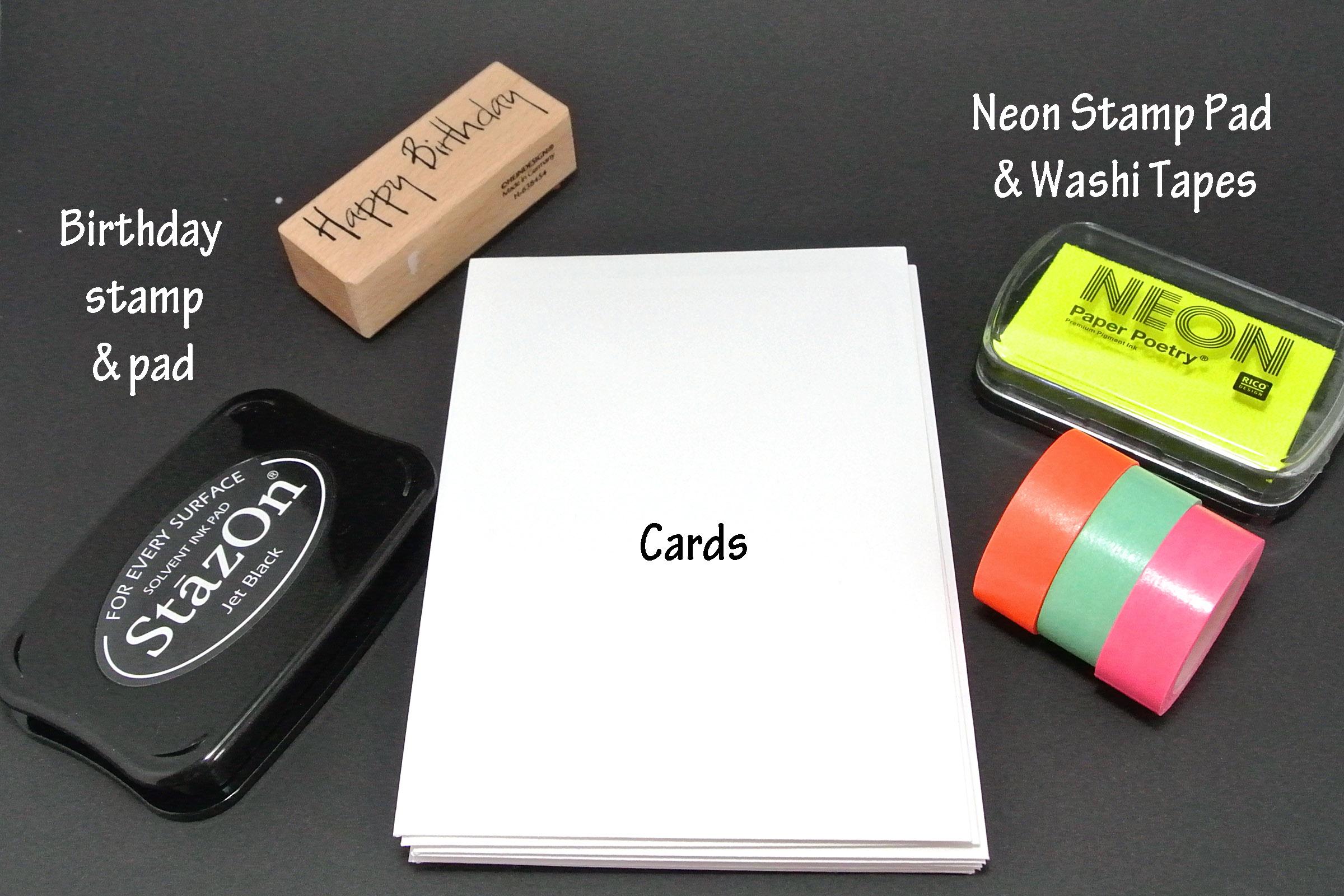 DIY: Neon Cards