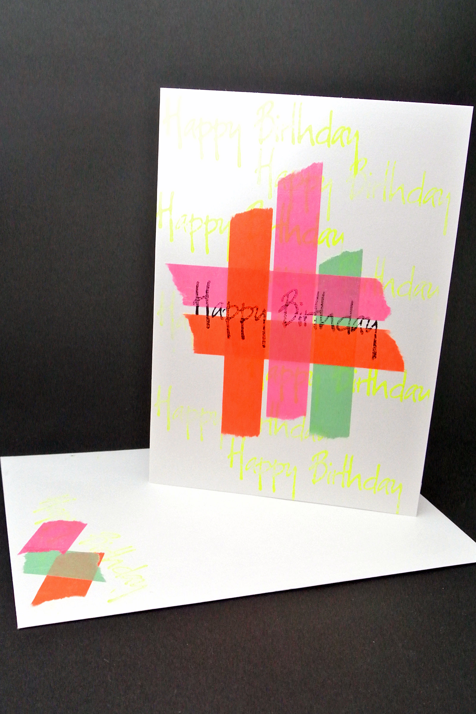 Neon Birthday Cards