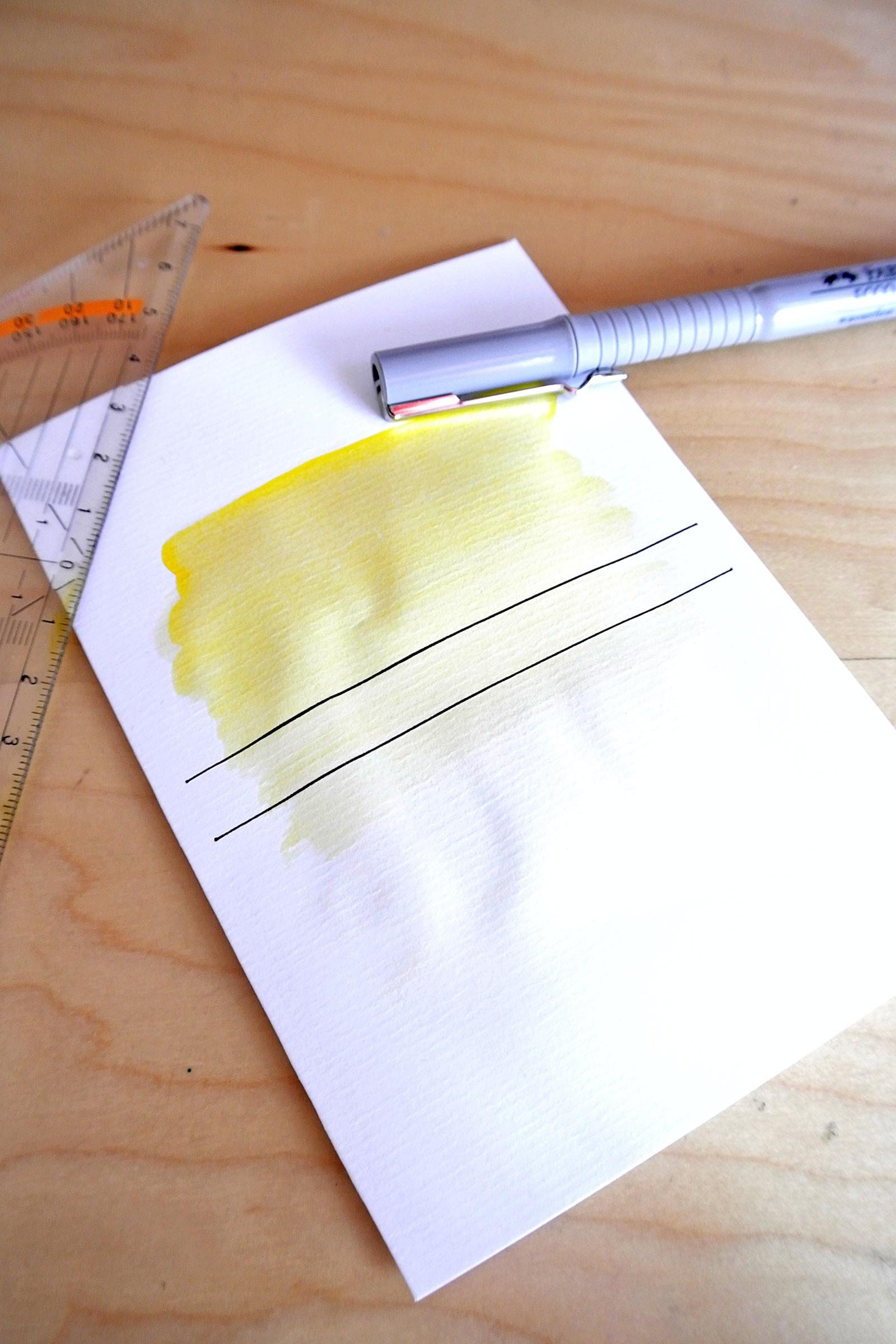 DIY: Watercolor+Name Cards