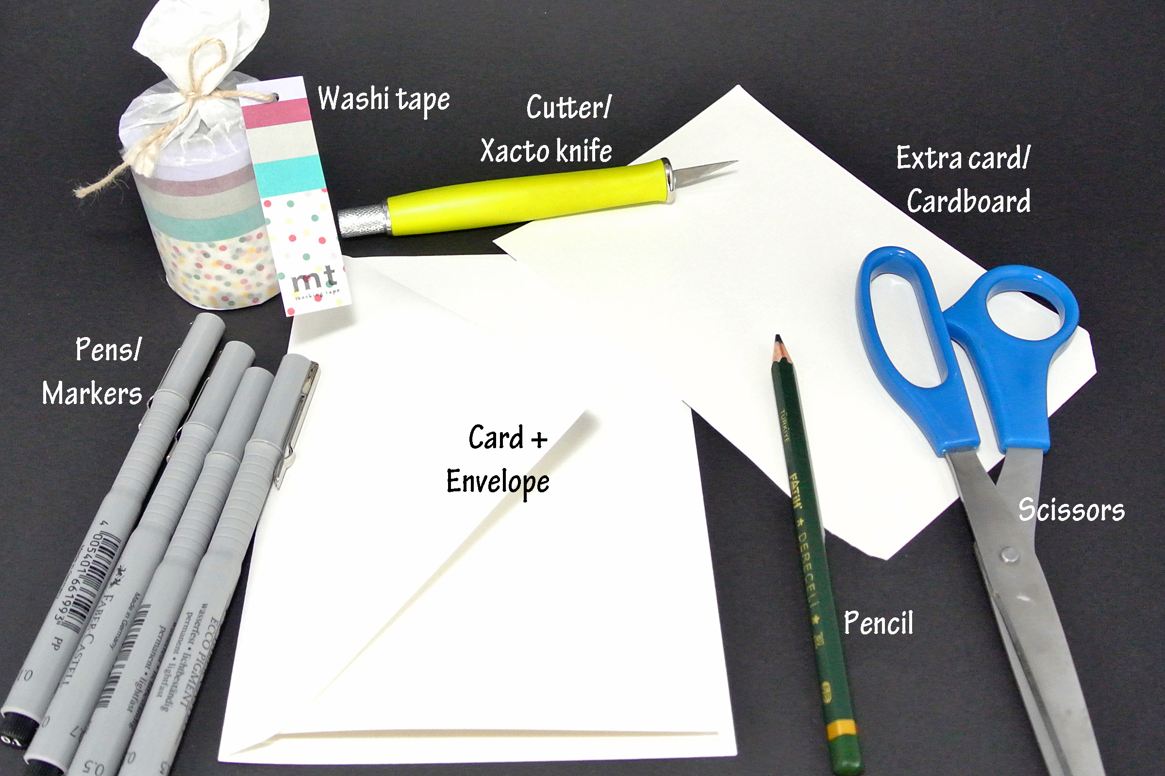 DIY: Cutout Washi Tape Cards