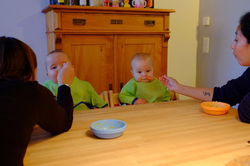 Feeding the twins