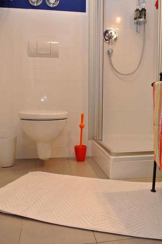 still red toilet brush