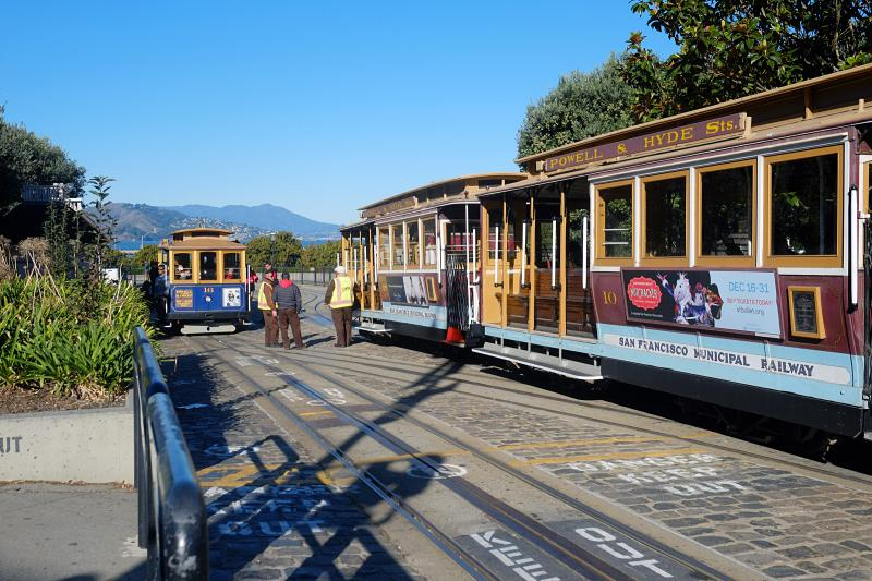 Powell Hyde Cable Car end of line