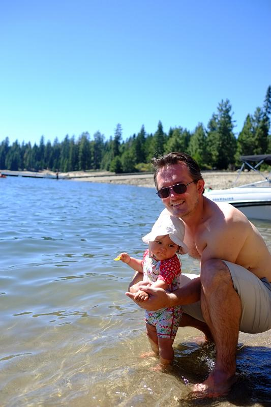 with Dada at Union Valley Reservoir